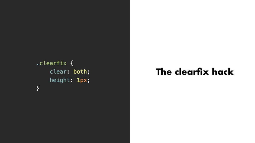 The clearfix hack