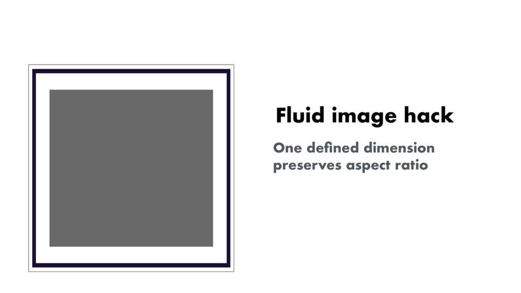 Fluid image hack One defined dimension preserves...