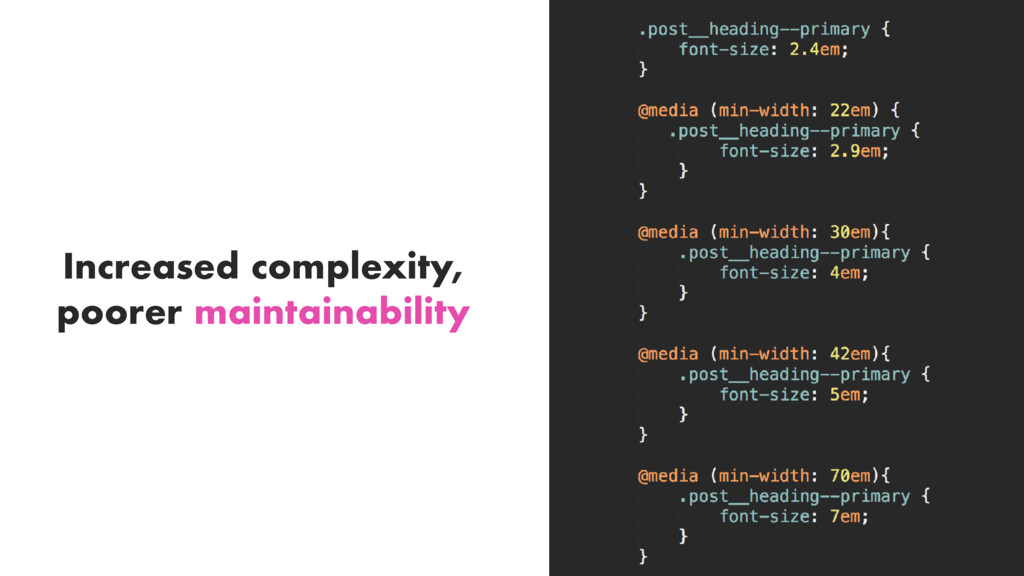 Increased complexity, poorer maintainability