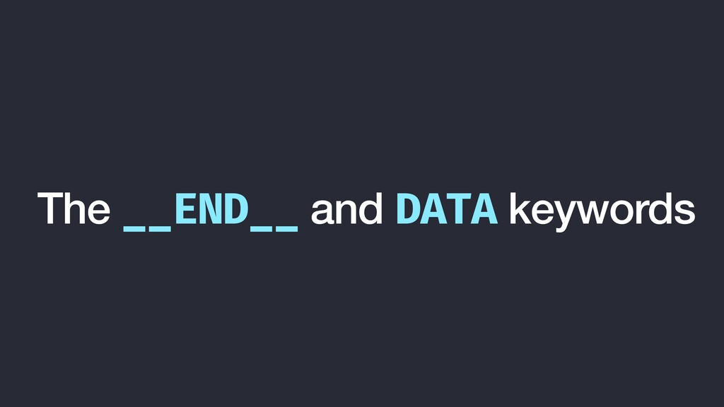 The __END__ and DATA keywords