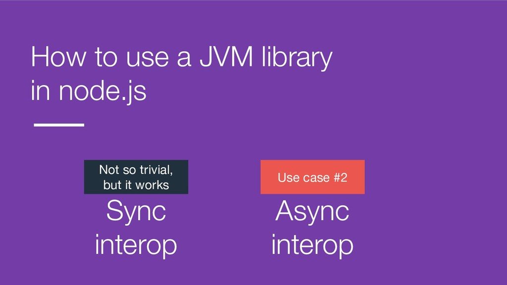 How to use a JVM library in node.js Not so triv...