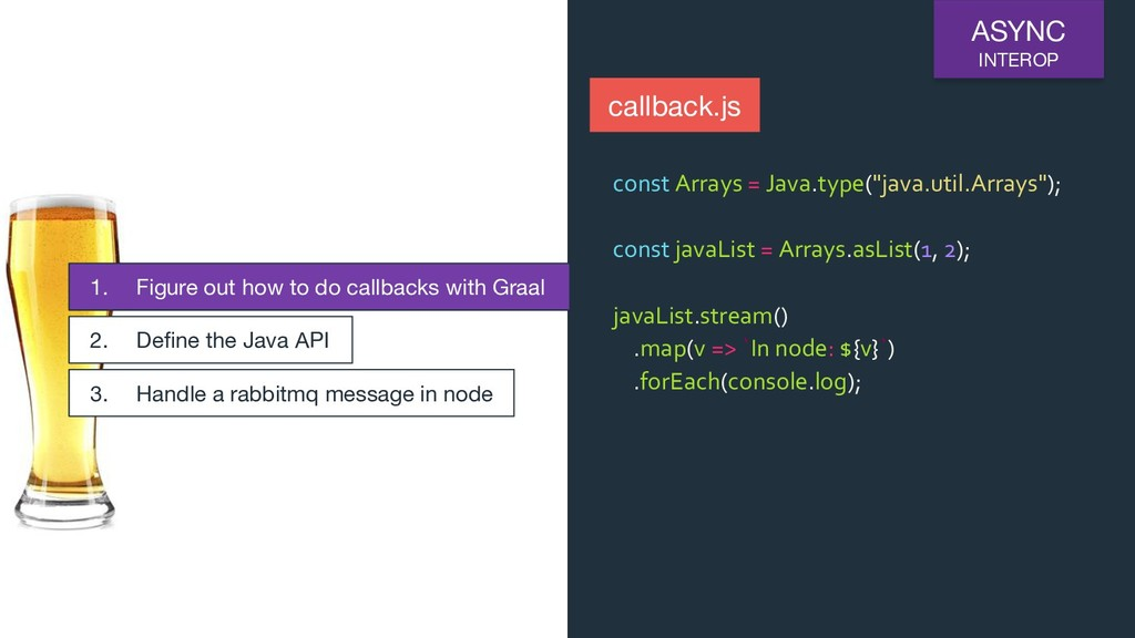 ASYNC INTEROP callback.js 1. Figure out how to ...