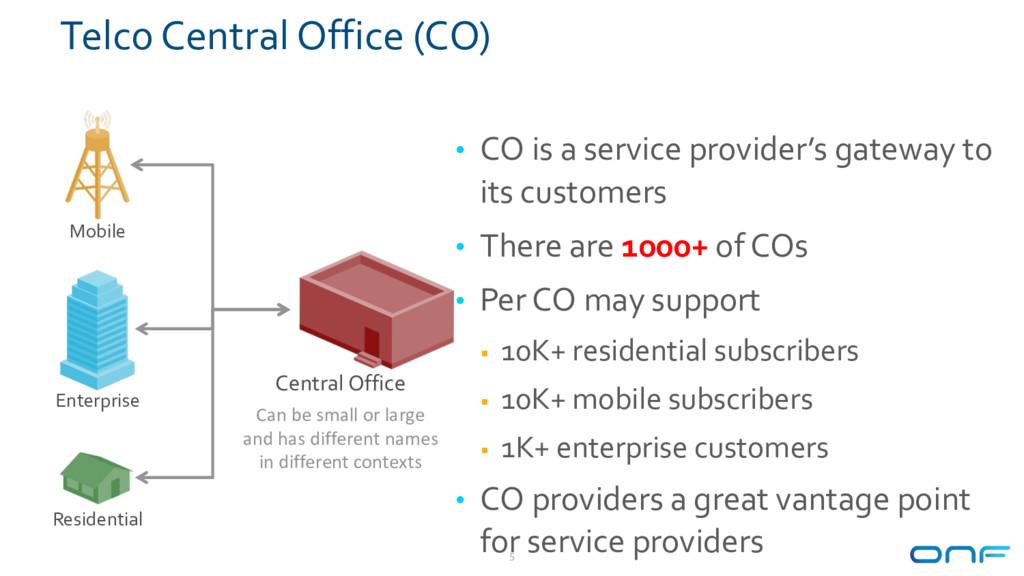 Telco Central Office (CO) Mobile Residential En...
