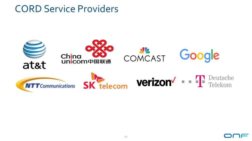 CORD Service Providers 60