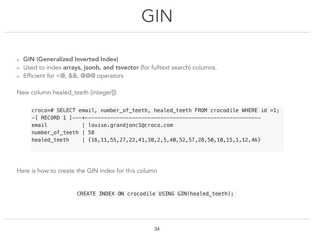 GIN !34 - GIN (Generalized Inverted Index) - Us...