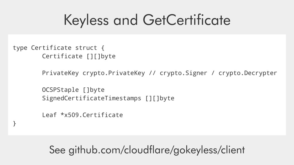 type Certificate struct { Certificate [][]byte ...