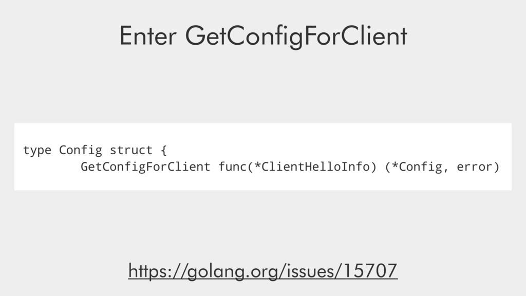type Config struct { GetConfigForClient func(*C...