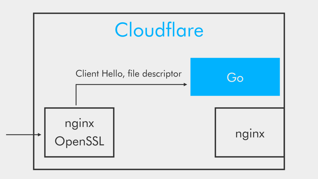 Cloudflare OpenSSL Go nginx nginx Client Hello, ...