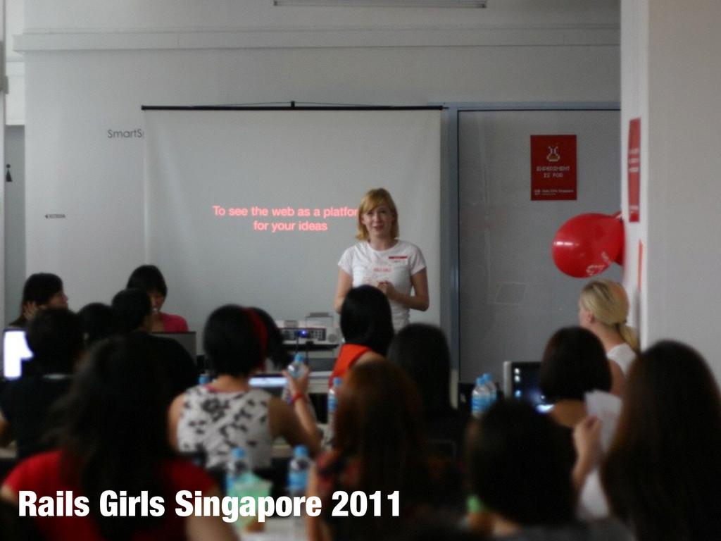 Rails Girls Singapore 2011