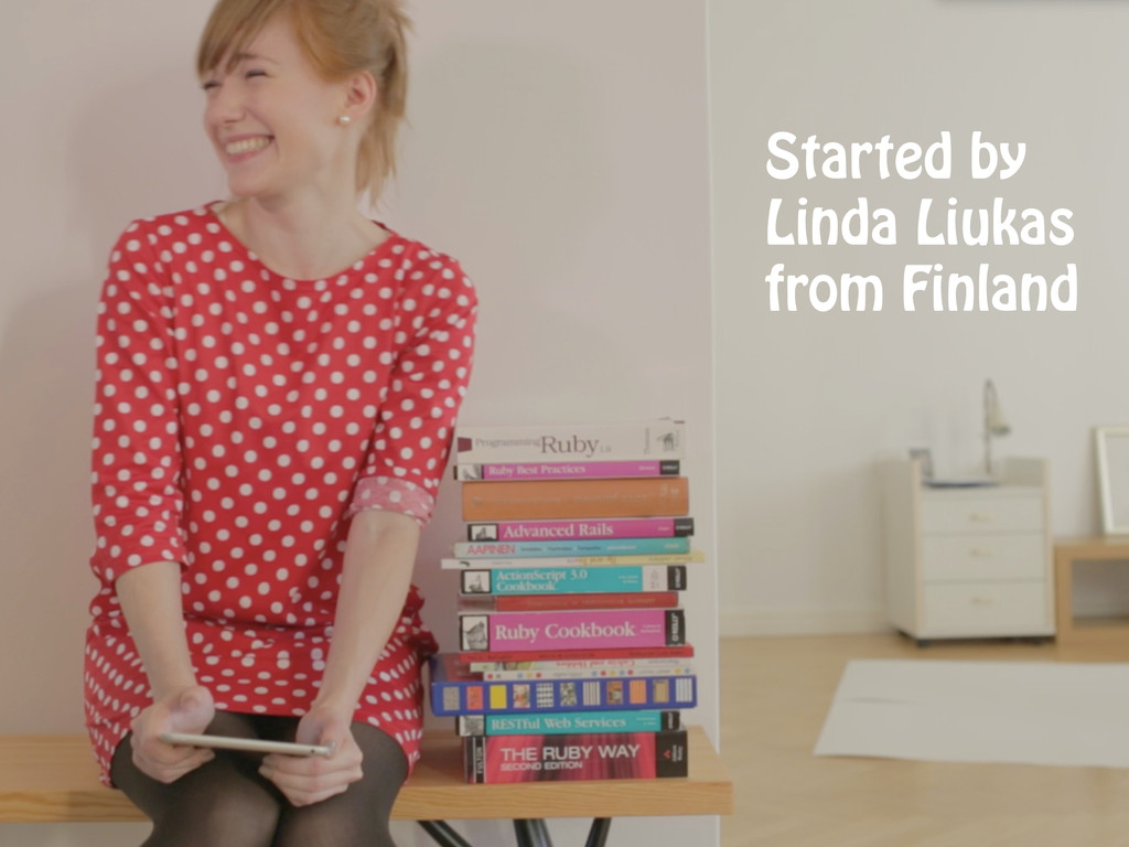Started by Linda Liukas from Finland
