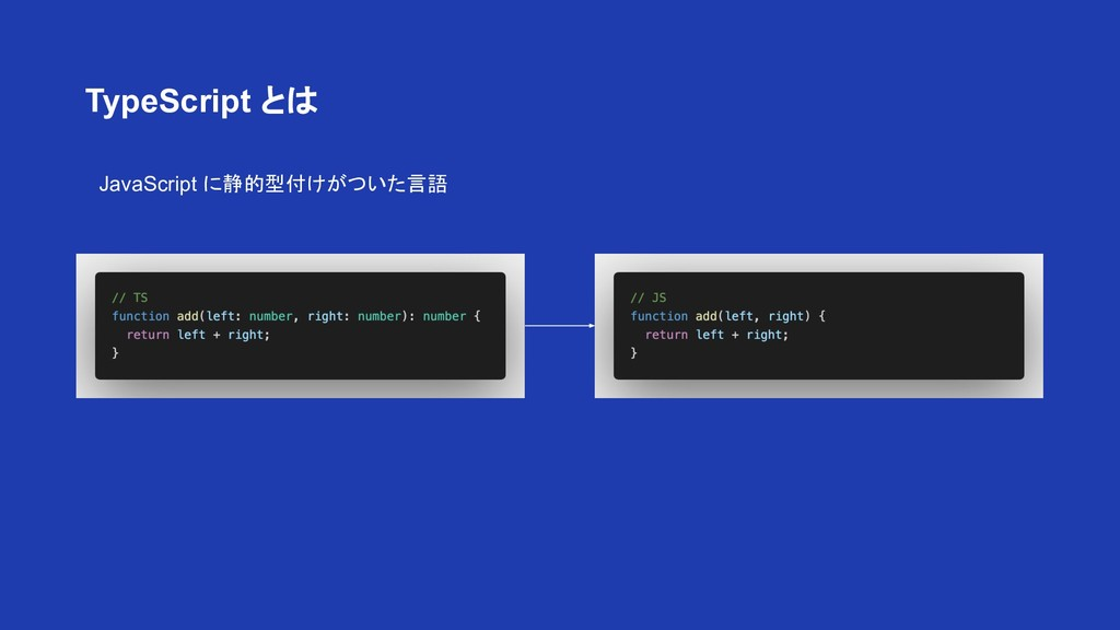 JavaScript に静的型付けがついた言語 TypeScript とは