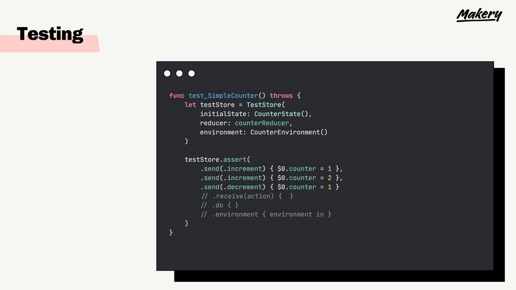 Testing func test_SimpleCounter() throws {  let...