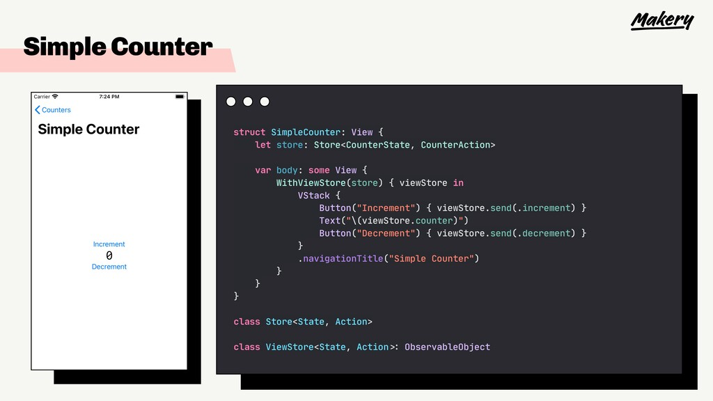 Simple Counter struct SimpleCounter: View {  le...