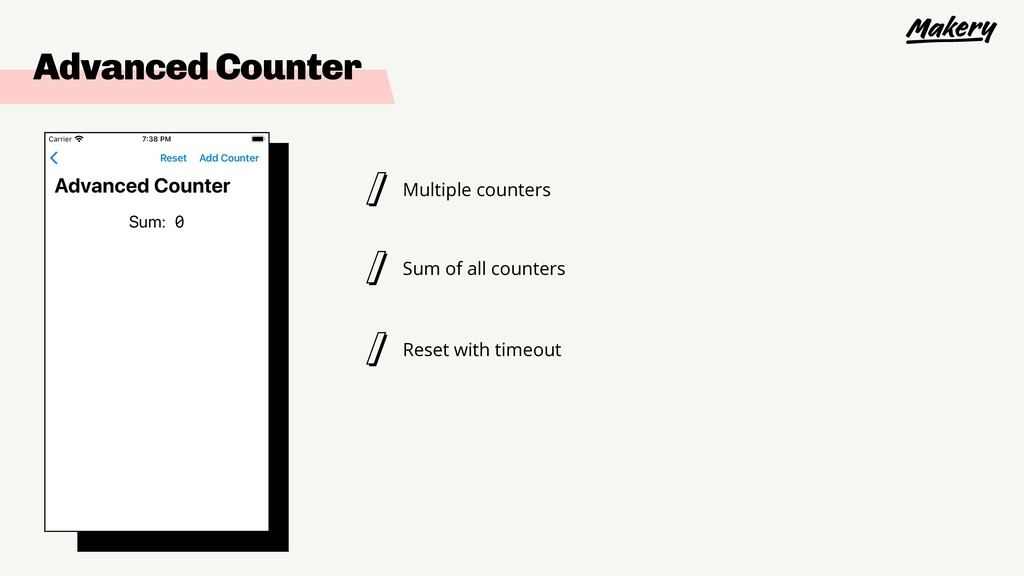 Advanced Counter Multiple counters Sum of all c...