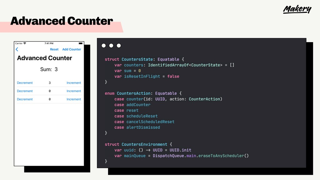 Advanced Counter struct CountersState: Equatabl...