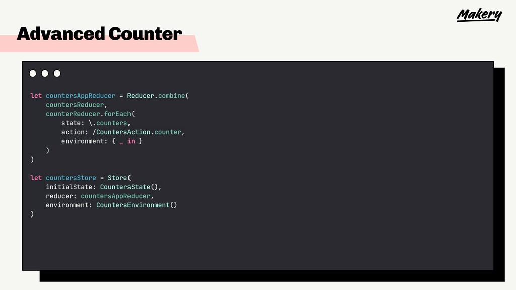 Advanced Counter let countersAppReducer = Reduc...