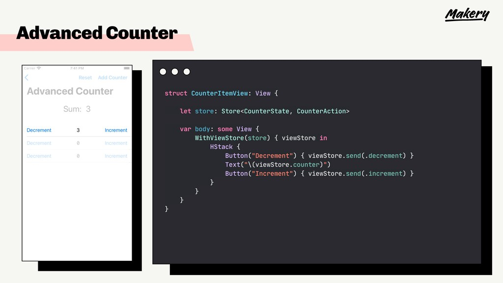Advanced Counter struct CounterItemView: View {...
