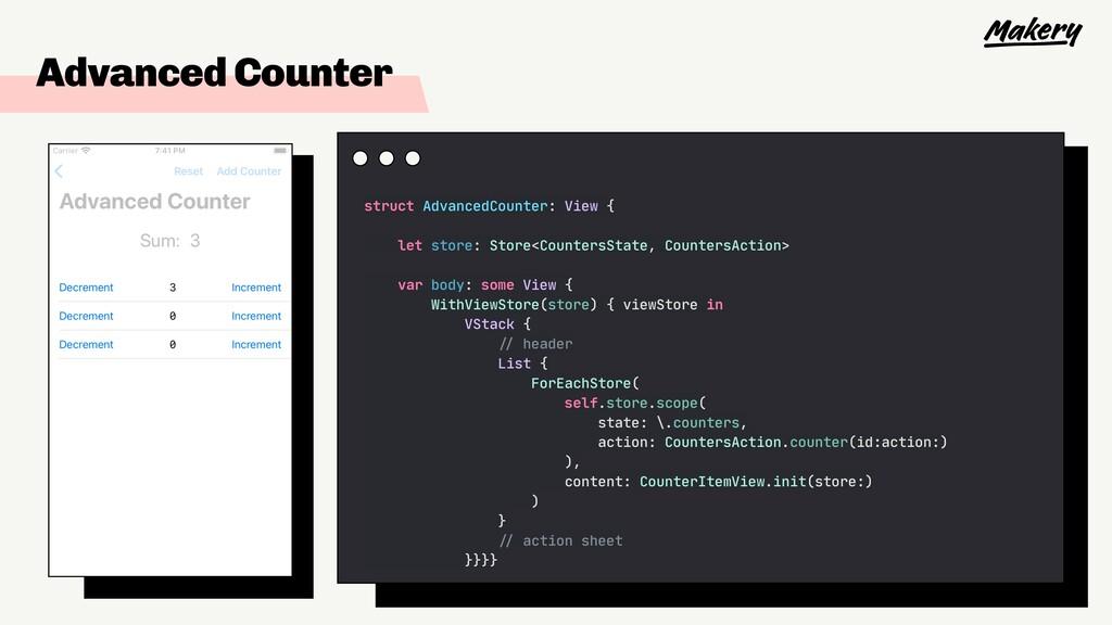 Advanced Counter struct AdvancedCounter: View {...