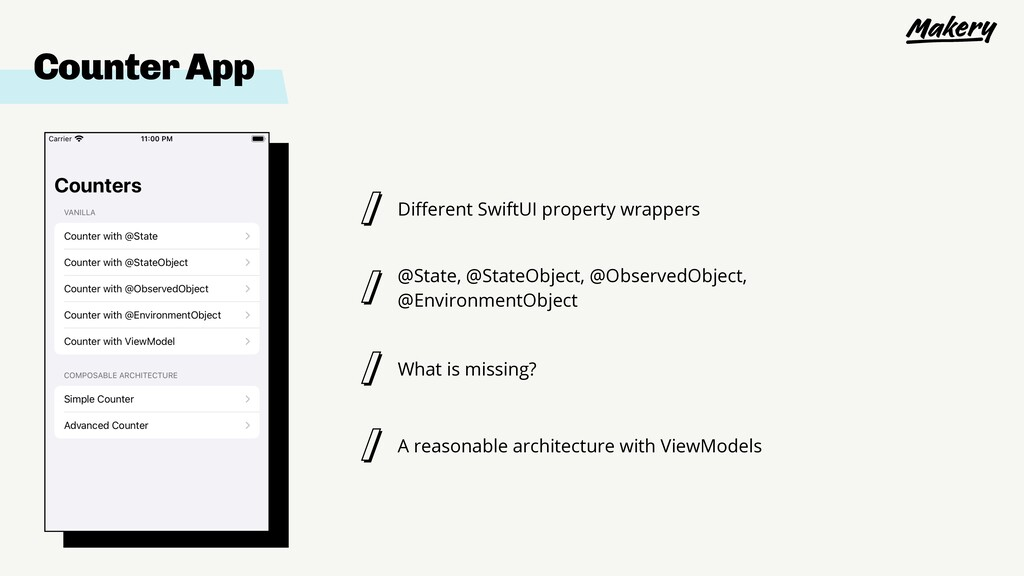 Different SwiftUI property wrappers @State, @Sta...