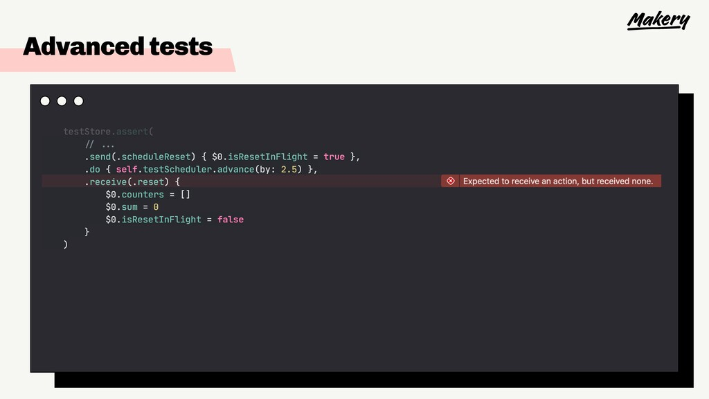 "Advanced tests testStore.assert(  ""// """"...  .s..."