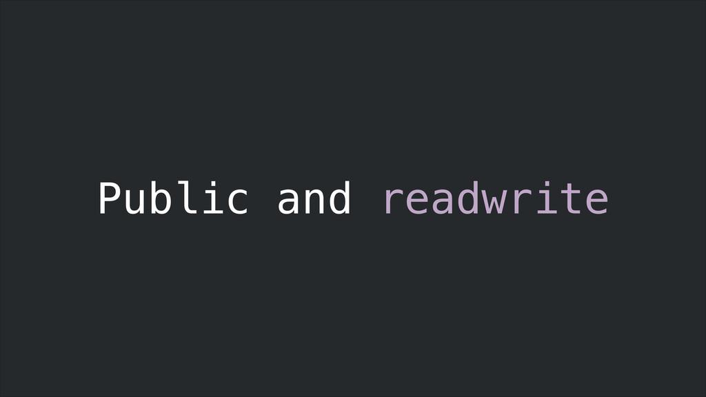 Public and readwrite