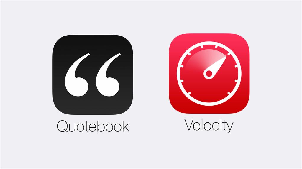 Velocity Quotebook