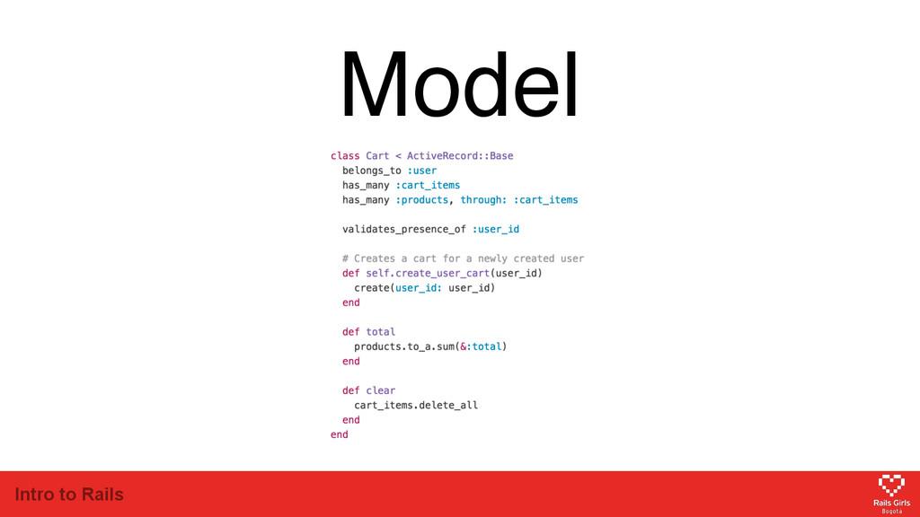 Intro to Rails Model