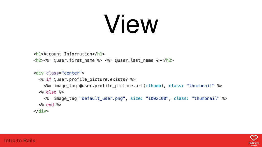 Intro to Rails View