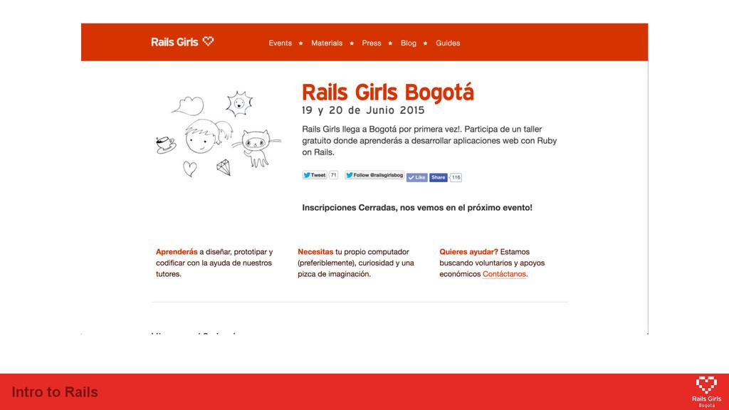 Intro to Rails