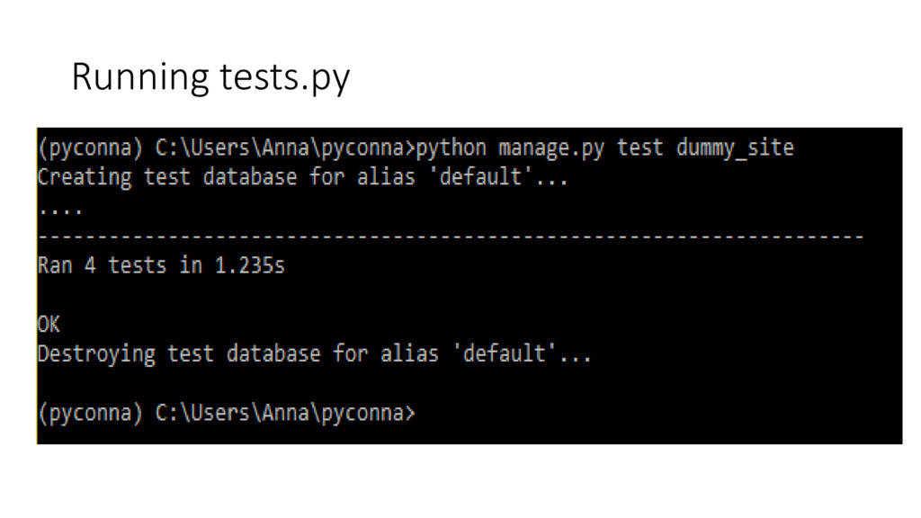 Running tests.py