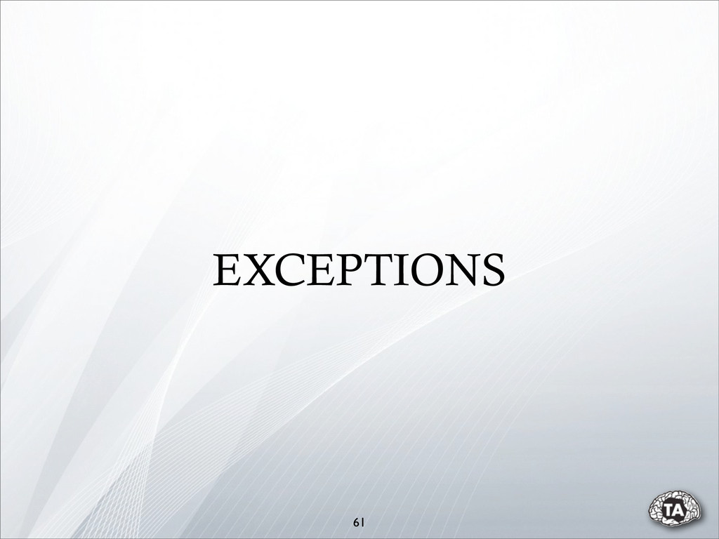 61 EXCEPTIONS