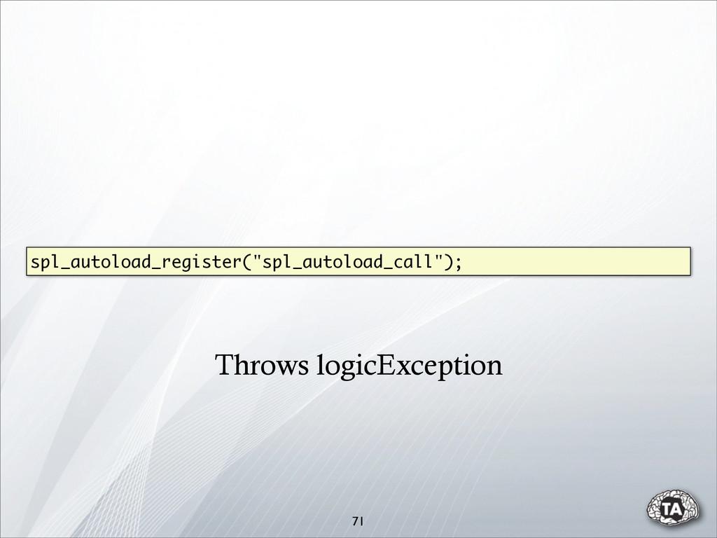 """71 spl_autoload_register(""""spl_autoload_call""""); ..."""