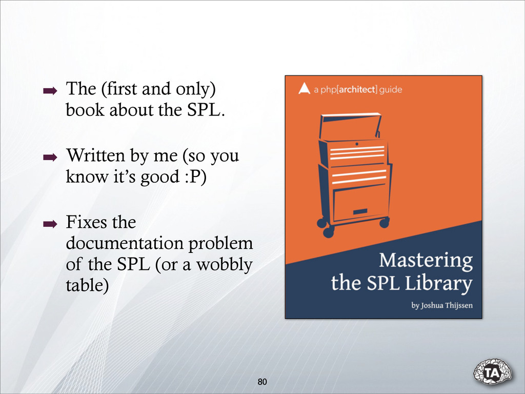 80 ➡ The (first and only) book about the SPL. ➡...
