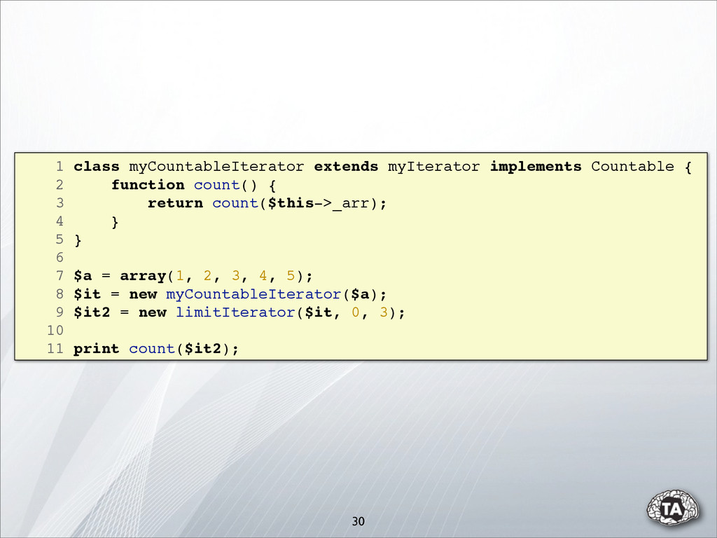 1 class myCountableIterator extends myIterator ...