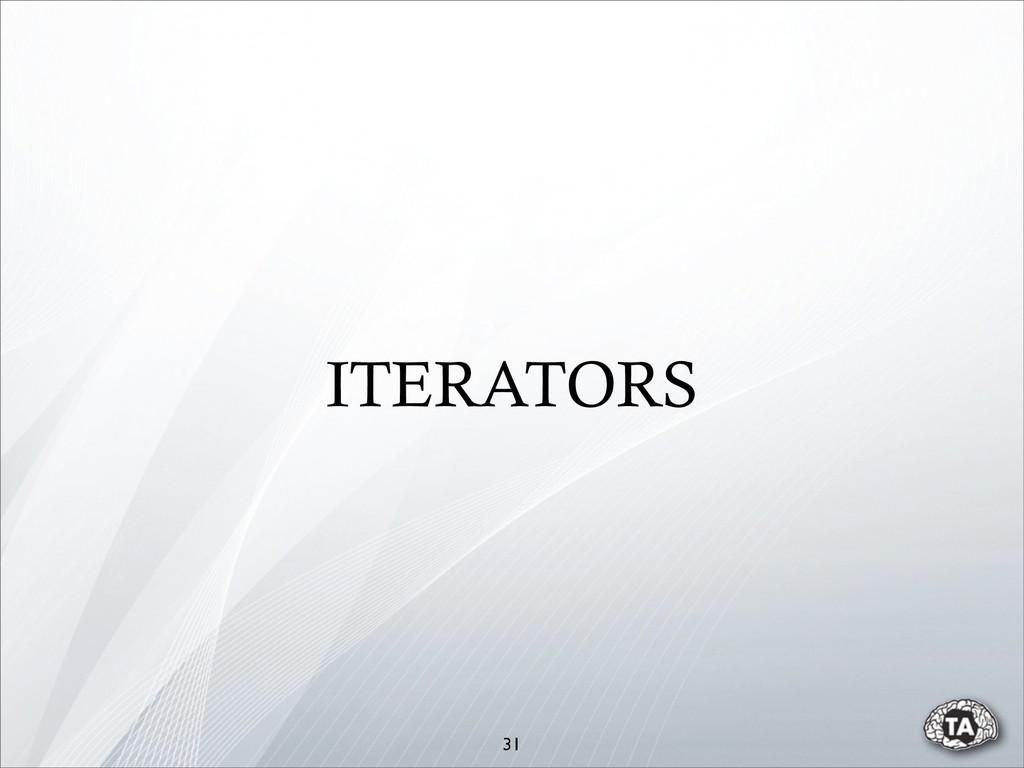 31 ITERATORS