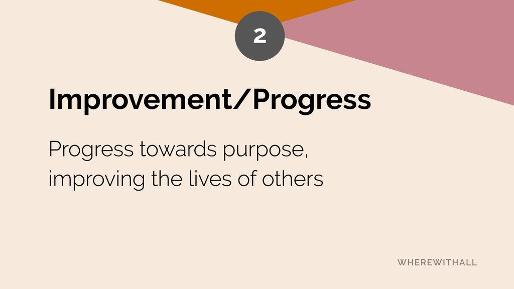 Improvement/Progress 2