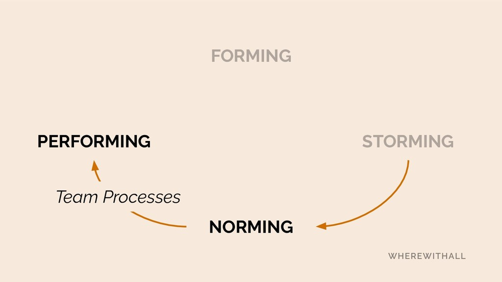 FORMING STORMING NORMING Team Processes PERFORM...