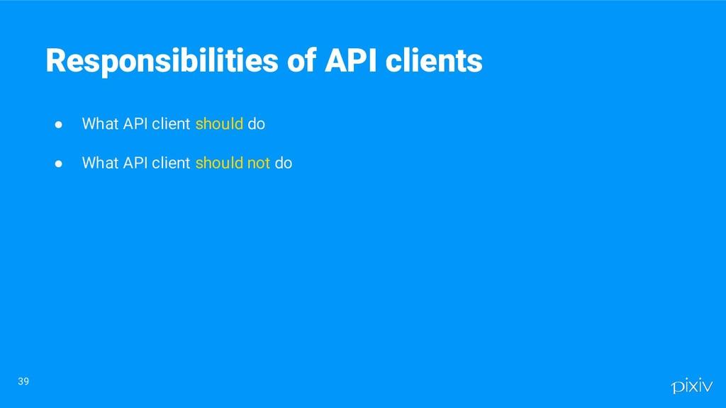 ● What API client should do ● What API client s...