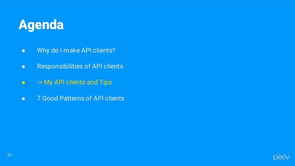● Why do I make API clients? ● Responsibilities...