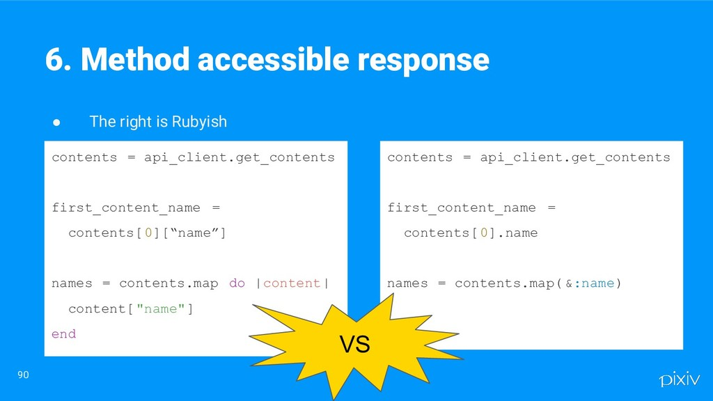 ● The right is Rubyish 90 6. Method accessible ...