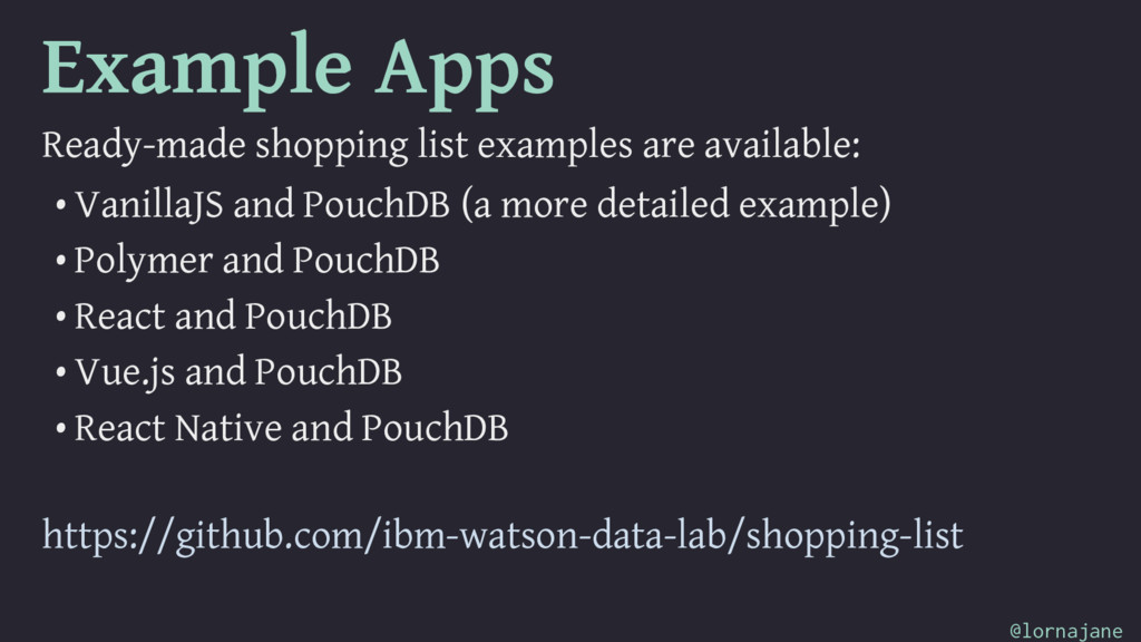 Example Apps Ready-made shopping list examples ...