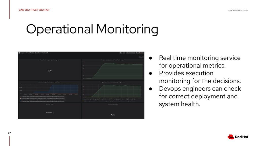 CONFIDENTIAL Designator 27 ● Real time monitori...