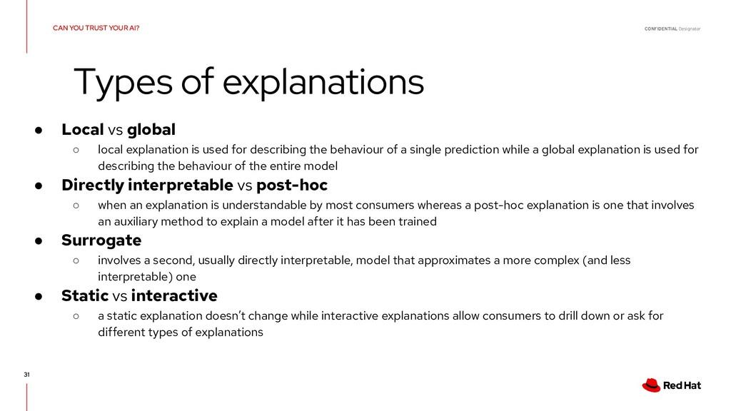 CONFIDENTIAL Designator 31 ● Local vs global ○ ...