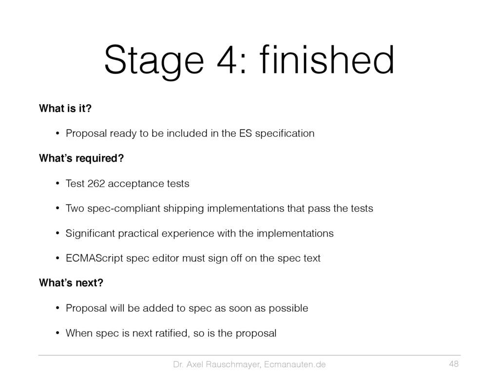 Dr. Axel Rauschmayer, Ecmanauten.de Stage 4: fin...