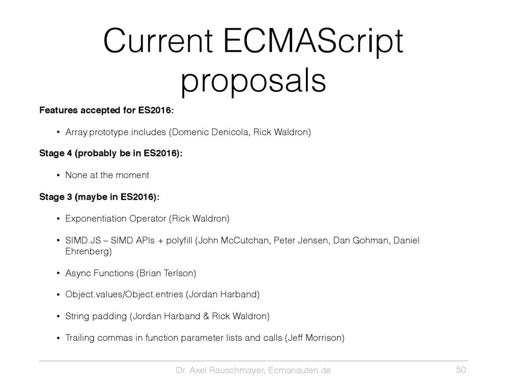 Dr. Axel Rauschmayer, Ecmanauten.de Current ECM...
