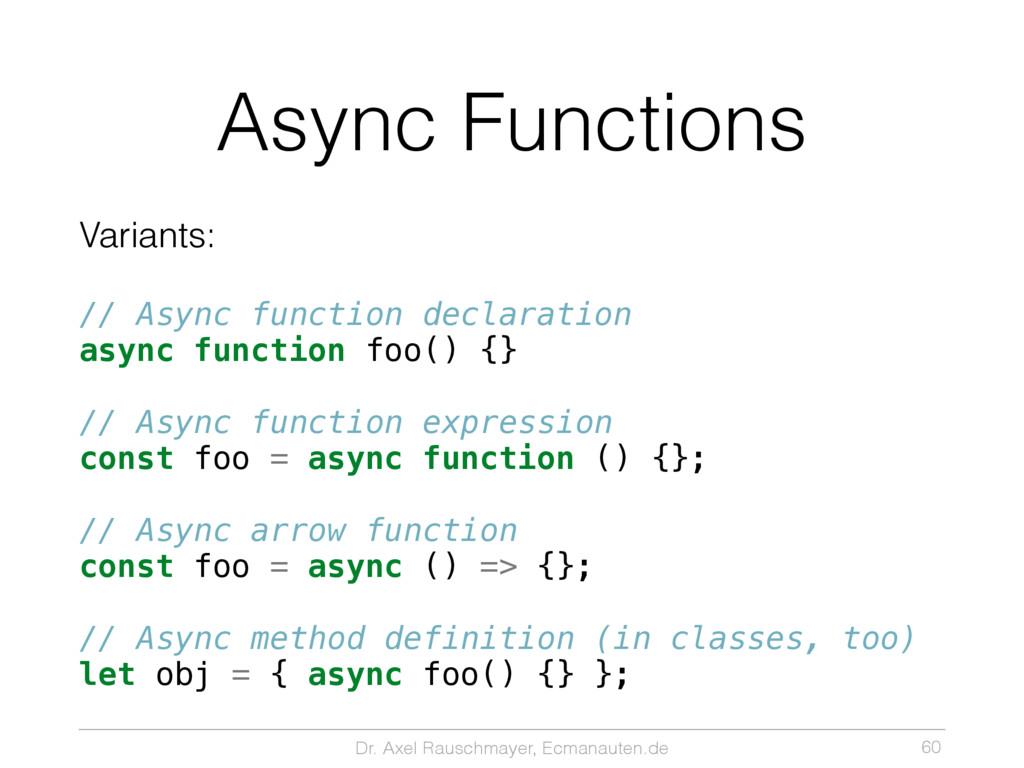 Dr. Axel Rauschmayer, Ecmanauten.de Async Funct...