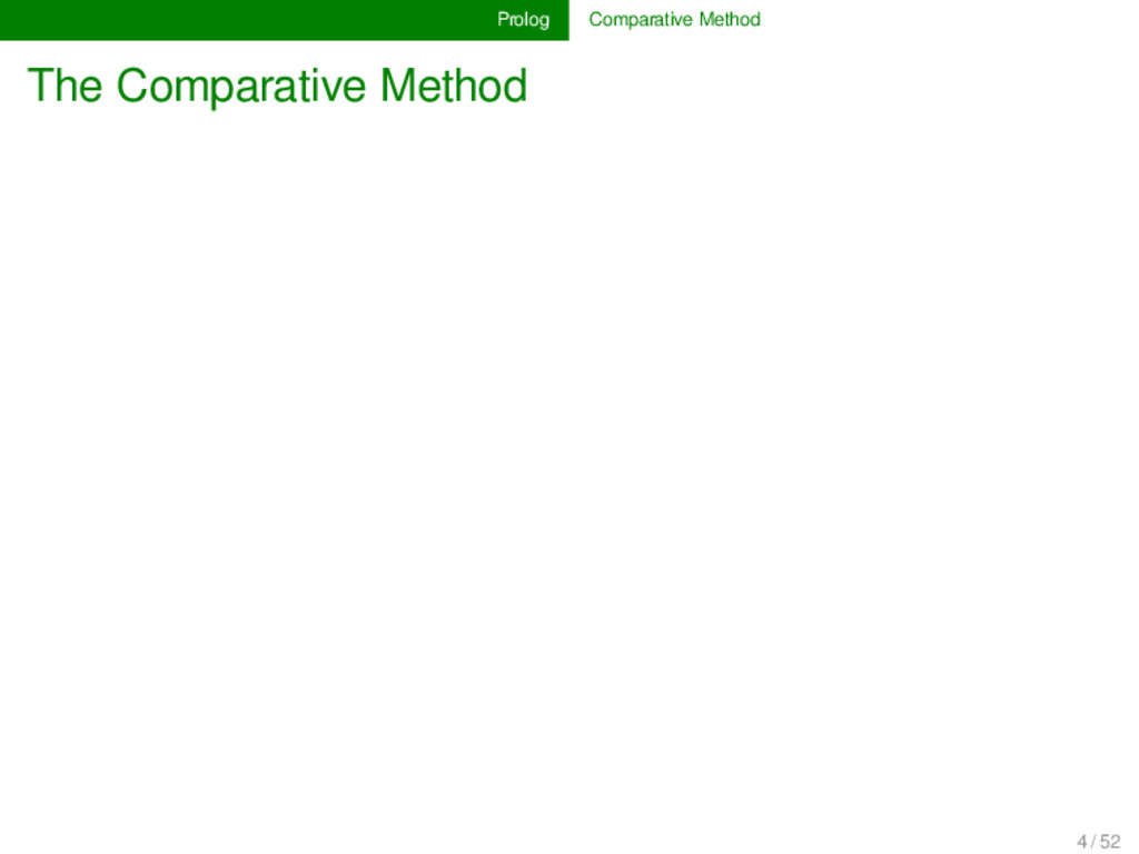 Prolog Comparative Method The Comparative Metho...