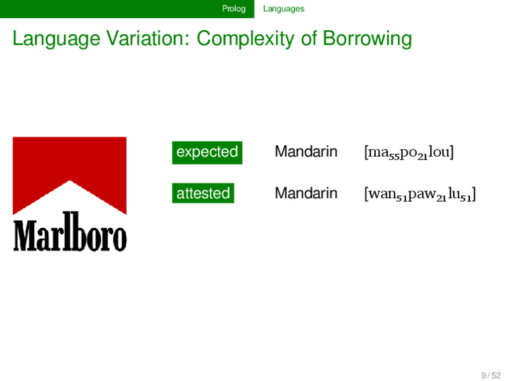 Prolog Languages Language Variation: Complexity...