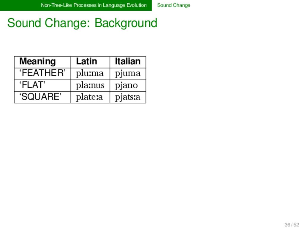 Non-Tree-Like Processes in Language Evolution S...