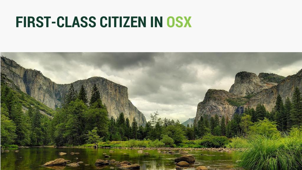 FIRST-CLASS CITIZEN IN OSX